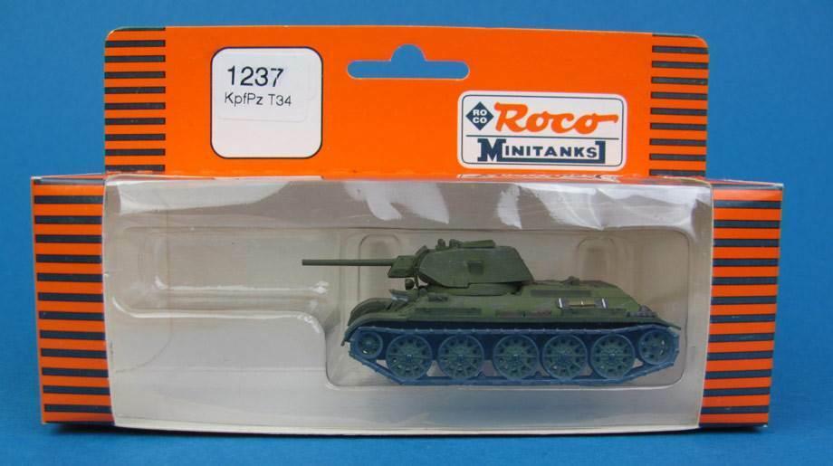Roco Minitanks H0 1237 KAMPF-PANZER T-34 UdSSR UdSSR UdSSR Neutral WWII SU HO 1 87 Premo T34 93636c