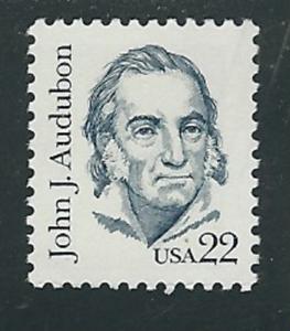 Scott-1863-22-Cent-John-J-Audubon-5-Stamps