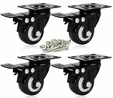 2 Inch Swivel Caster With Safety Dual Locking Heavy Duty 600lbs Set Of 4brakes
