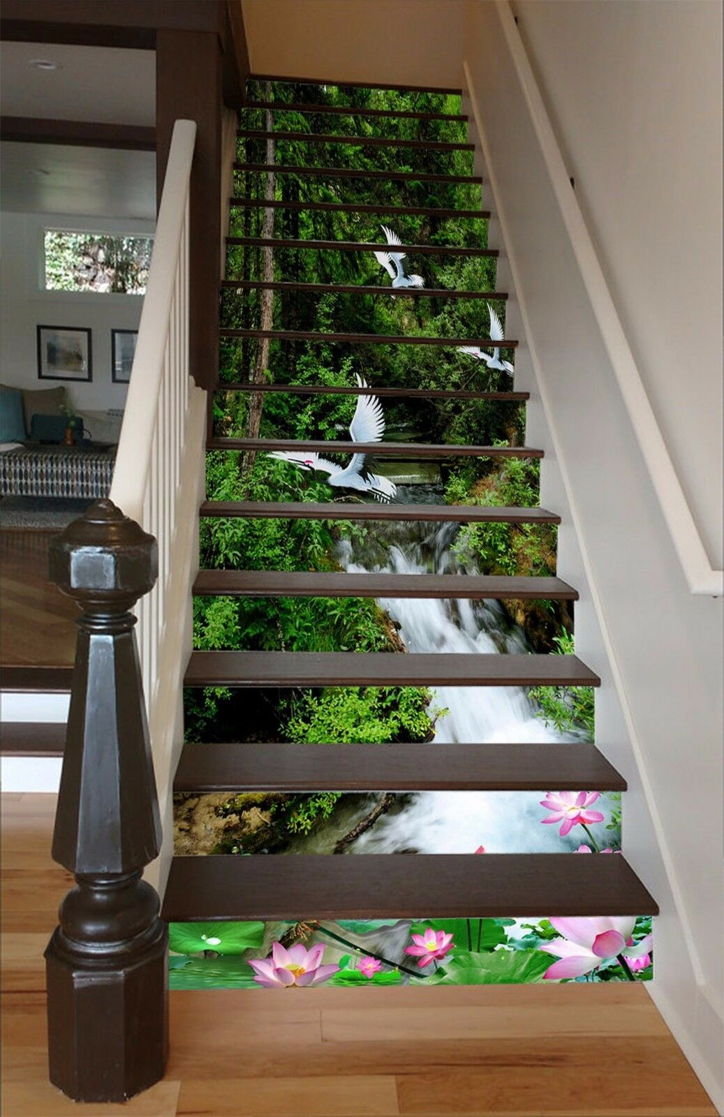 3D Forest Bird 595 Stair Risers Decoration Photo Mural Vinyl Decal Wallpaper AU