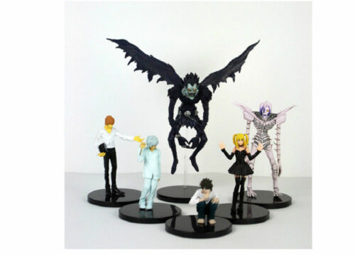 6xAnime Death Note Rem Lawliet Misa Ryuk Yagami Kira PVC Figure Figurine Kid Toy