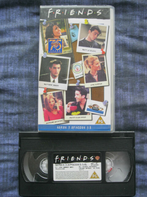 FRIENDS: SERIES 3 EPISODES 5 - 8 VHS VIDEO. EAN: 5014780157736. Cert.PG.