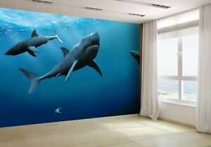 Sharks-in-the-Sea-Wallpaper-Mural-Photo-17379239-budget-paper