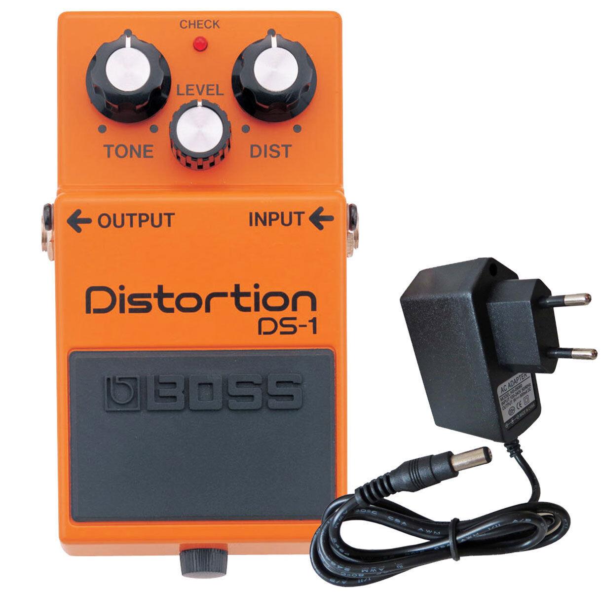 Boss DS-1 Distortion Pedal + 9V Netzteil