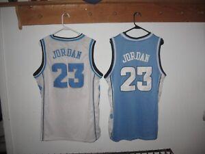 reputable site 6cf01 d4dee Details about -2- Michael Jordan #23 UNC North Carolina Tar Heels Throwback  Jerseys Home Away