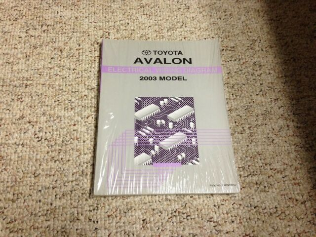 2003 Toyota Avalon Electrical Wiring Diagram Manual Xl Xls 3 0l V6