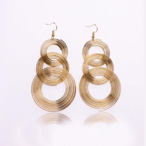 Boho Women Big Small Circle Dangle Drop Hook Ear Stud Earrings Party Jewelry New