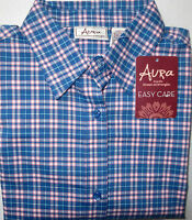 Women's Wrangler Aura Easy Care Country Western L/s Button Front Shirt Med
