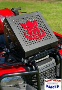 2020+ Black Shroud w//Red Boar Logo Radiator Relocation Kit for Honda Rancher 420
