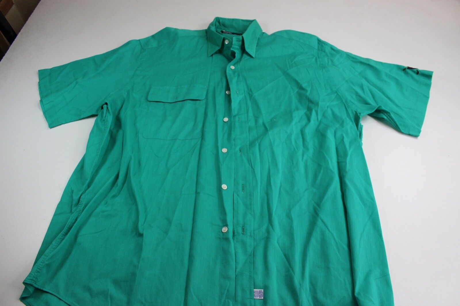 VTG 80's 90's Polo Ralph Lauren Happy Green Butto… - image 1