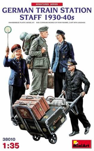 4 Figuren in 1:35 MINIART 38010 German Train Station Staff 1930-40s