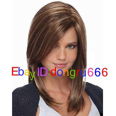 Hot! Fashion wig Charm Women's Short Brown Mix Blonde Natural Hair wigs/wig cap