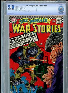 Star-Spangled-War-Stories-126-CBCS-Graded-5-0-1966-Kubert-DC-Comics-Silver-Age