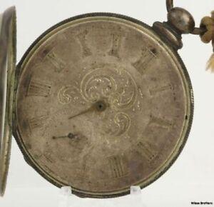 Parts-As-Is-Repair-Key-Wind-Pocket-Watch-Jacot-Locle-13J-18s