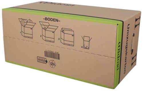 15x UMZUGSKARTONS  MIDORI PROFI 2-WELLIG 630 x 285 x 305mm sehr stabile Karton