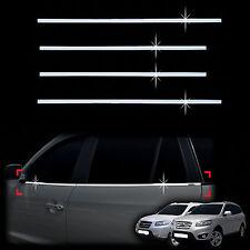 Chrome Door Window Sill Belt Molding Trim Cover for 07-11  Santa Fe