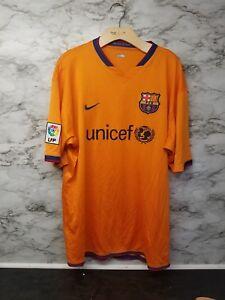 Nike Fc Barcelona Soccer Unicef Jersey Xxl Orange Mens Lfp 32 Ebay