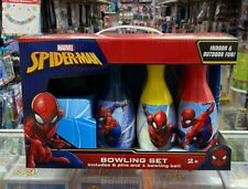 Marvel Spiderman Ten Pin Bowling Skittles And Plastic Ball Game Set