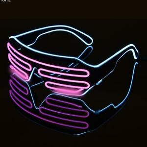 El-Wire-Neon-LED-Festival-Light-Up-Glow-Sunglasses-Glasses-Rave-Club-Party-Cute