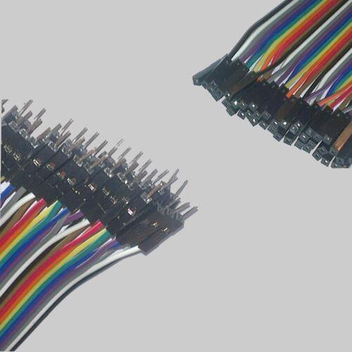 40 fils nappe Male et//ou Femelle 1P1P arduino Fil de liaison 20cm  10 20