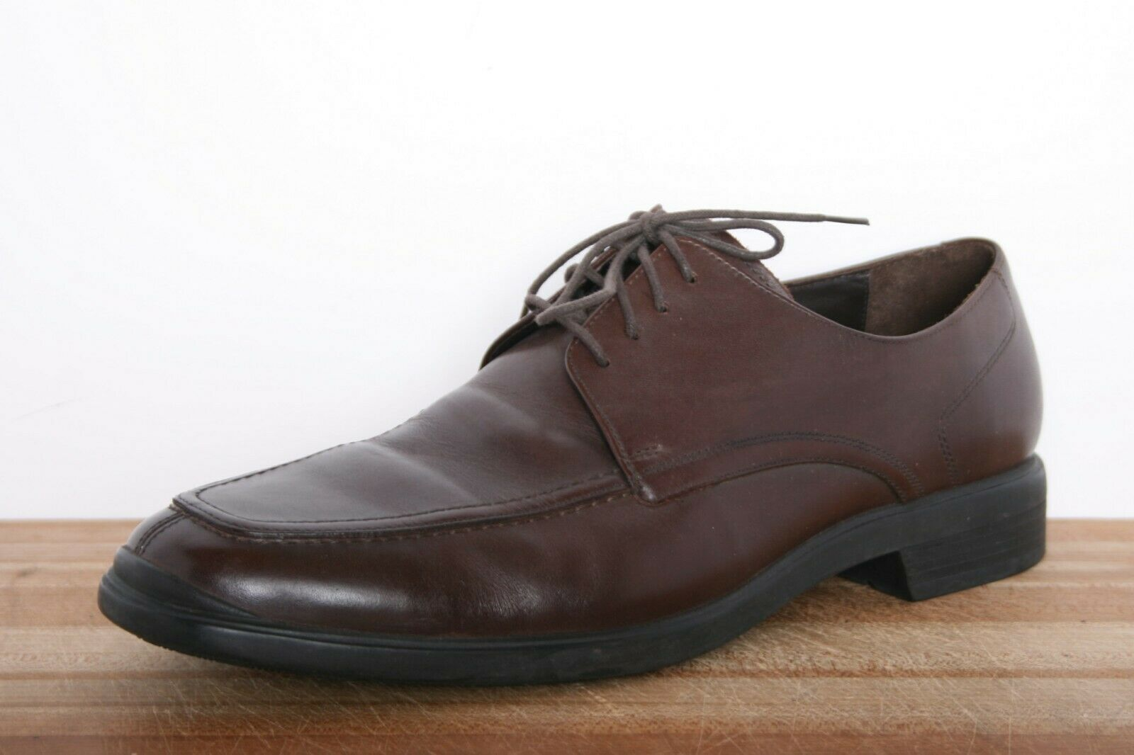 COLE HAAN 'Air Styler' Brown Leather Split Apron Toe Oxfords Sz. 11M