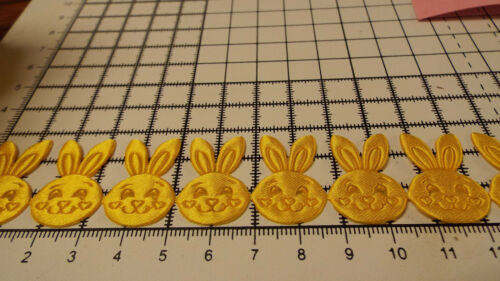 Yellow,Bunny Motif Applique,Trimming,Wedding 2m Satin Lace Ribbon