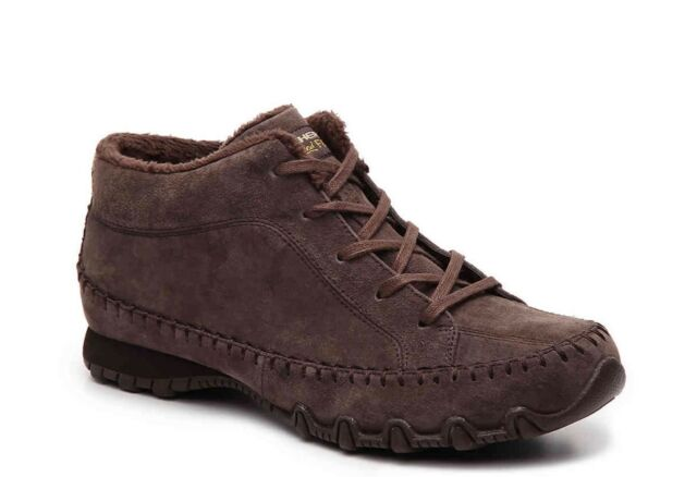 Skechers Women's Size 6.5 Relaxed Fit Bikers Totem Pole Chocolate Brown Boot