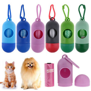 Details About Mini Pet Dog Waste Bag Dispenser Holder Attachable To Leash Bags Ao58