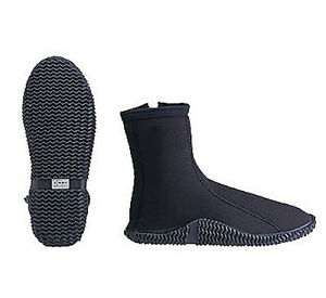 3mm Scuba Diving Boots Dive Booties Snorkeling Size 8 High Top Zippered
