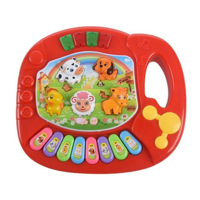 Baby Kids Musical Educational Animal Farm Piano Developmental Music Toy D4N5