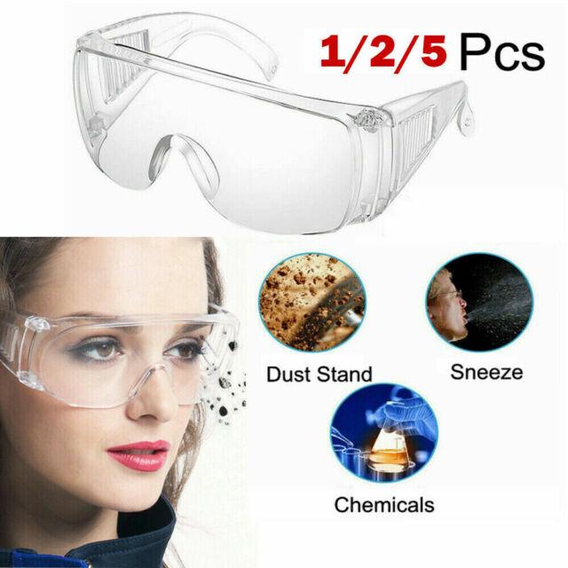 5x Schutzbrille Sicherheitsbrille Augenschutz Laborbrille Arbeitsschutzbrille