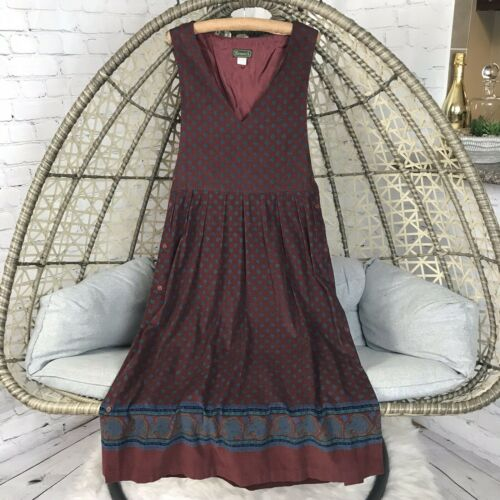 Fenwick Vintage Midi Dress/ Overalls - Burgundy