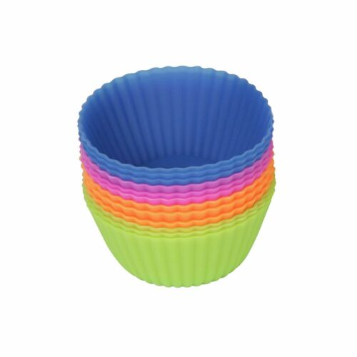 Silicone Muffin Cups Baking Molds Reusable Cupcake Liners Nonstick 12//24//36 Pack