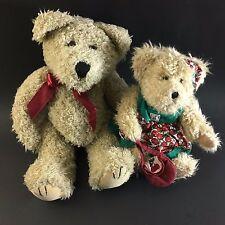 "Boyd's Bears Lot (2) The Archive Series #1364 Boy Bear 11"" / Girl 8"" Cherries"