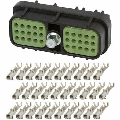 3 Set 16-18 GA Delphi Metri-Pack 150 Series 2-Way Connector w//16-18-20-22 AWG Sealed Waterproof