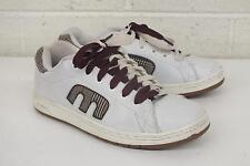 Etnies Callicut White Leather Skateboard Sneakers w/Red & White Laces US 7 EU 39
