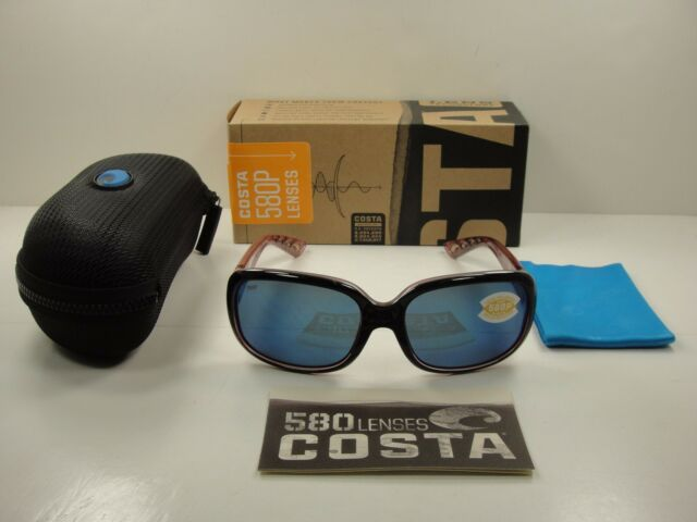 79fd26d614 Costa Del Mar Gannet GNT 132 Shiny Black Hibiscus Sunglasses Blue 580p