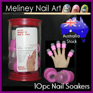10pc-Nail-Polish-Remover-Soaker-Cap-Acetone-Safe-Tool-Container-UV-Gel-Manicure