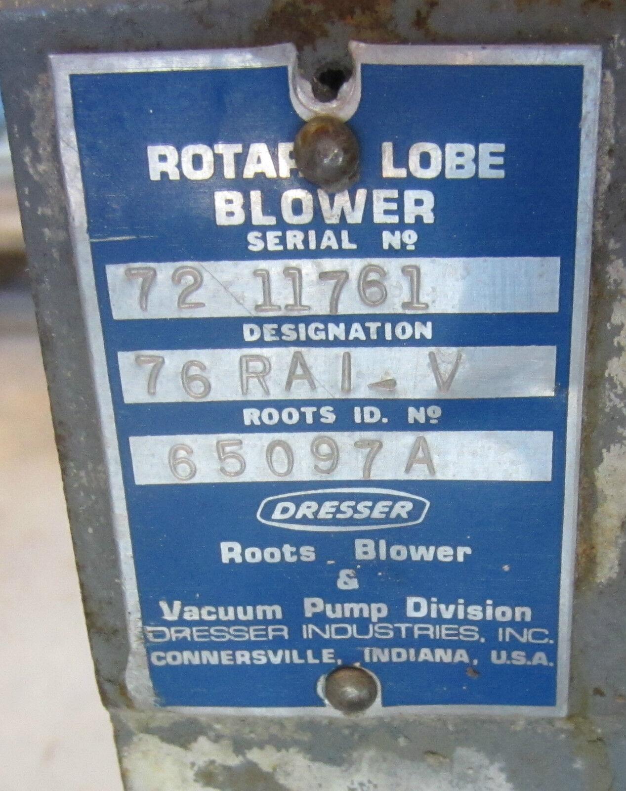 Dresser Roots Rotary Lobe Er 76rai