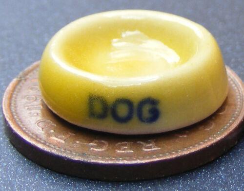 1:12 Escala Cerámica Perro Cuenco Tumdee Casa de Muñecas Miniatura Pet Alimento