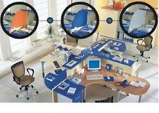 Bancone reception, scrivanie, cassettiera, armadio, ripiano
