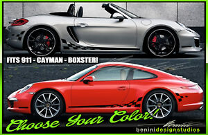 x2 996 911 sticker custom sizes and colors Carrera decklid decal 10/""