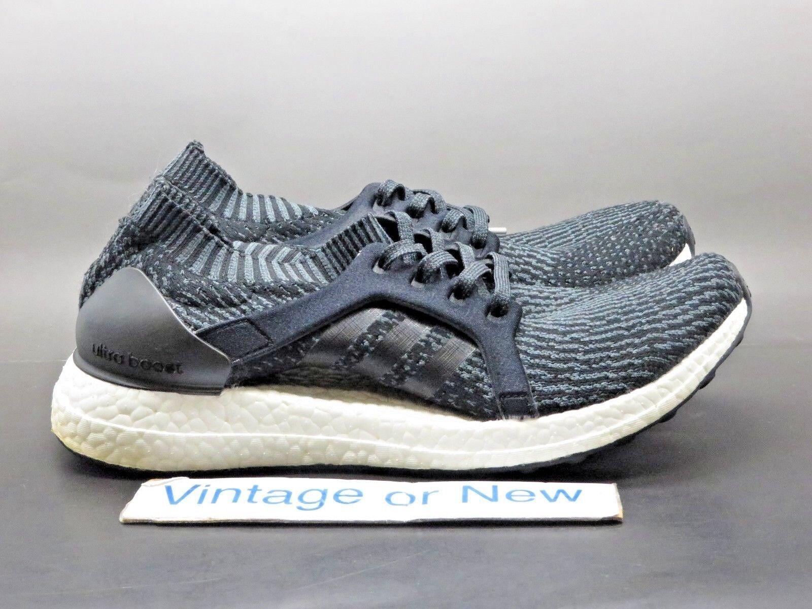 Women's Adidas Ultra Boost X Black Solid Grey Running BB1696 sz 8.5