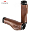 Promend Retro Real Leather MTB Road Bike Scooter Vintage Bicycle Handlebar Grips