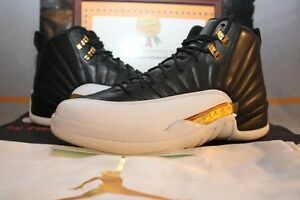 0743a2516b8d3f 2016 Nike Air Jordan 12 Retro Wings Black Gold  848692-033  W ...