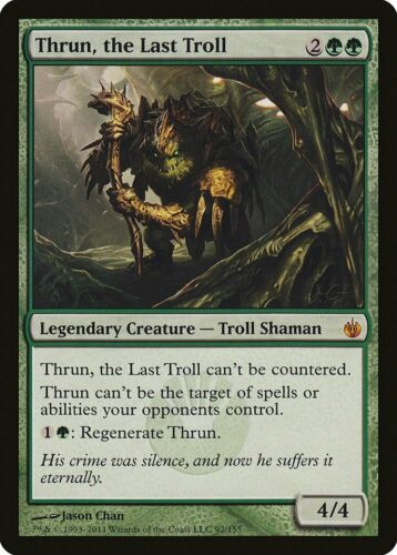 Thrun the Last Troll Mirrodin Besieged HEAVILY PLD Mythic Rare CARD ABUGames