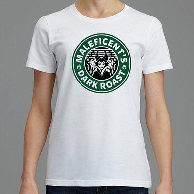 Maleficent Disney Villain Sleeping Beauty Starbucks Coffee T-Shirt Womens S-XXL