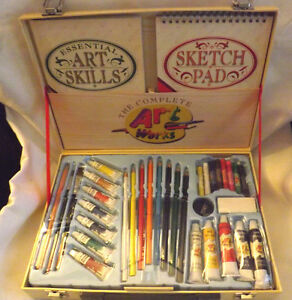 New Barns & Noble The Work Complete Art Works Artist Kit In Wooden Case
