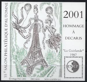 Timbre France Bloc Cnep N°34 Neuf** Hommage A Decaris Salon D'automne A Paris