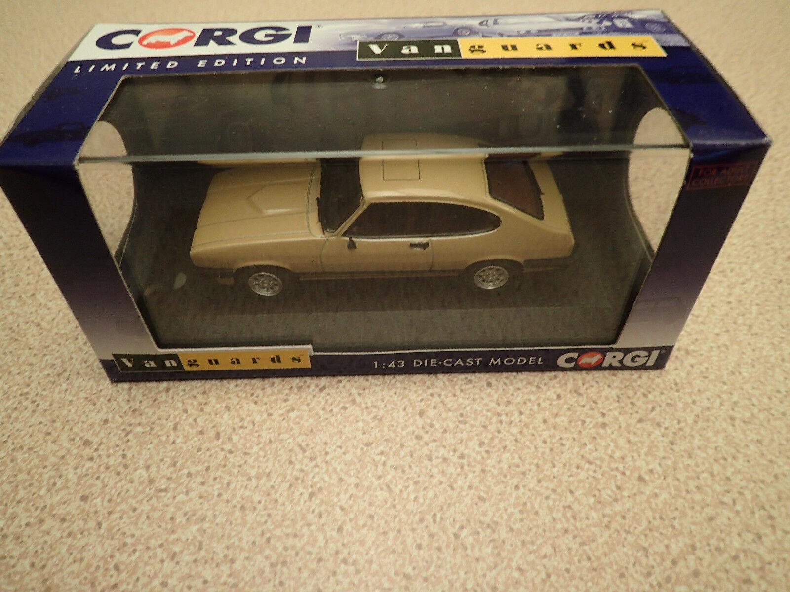 Ltd Edn Vanguards 1 43 VA10814A Ford Capri Mk3 3.0Ghia Oyster gold Untouched